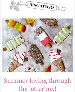 15% off the letterbox love collection at Biscuiteers