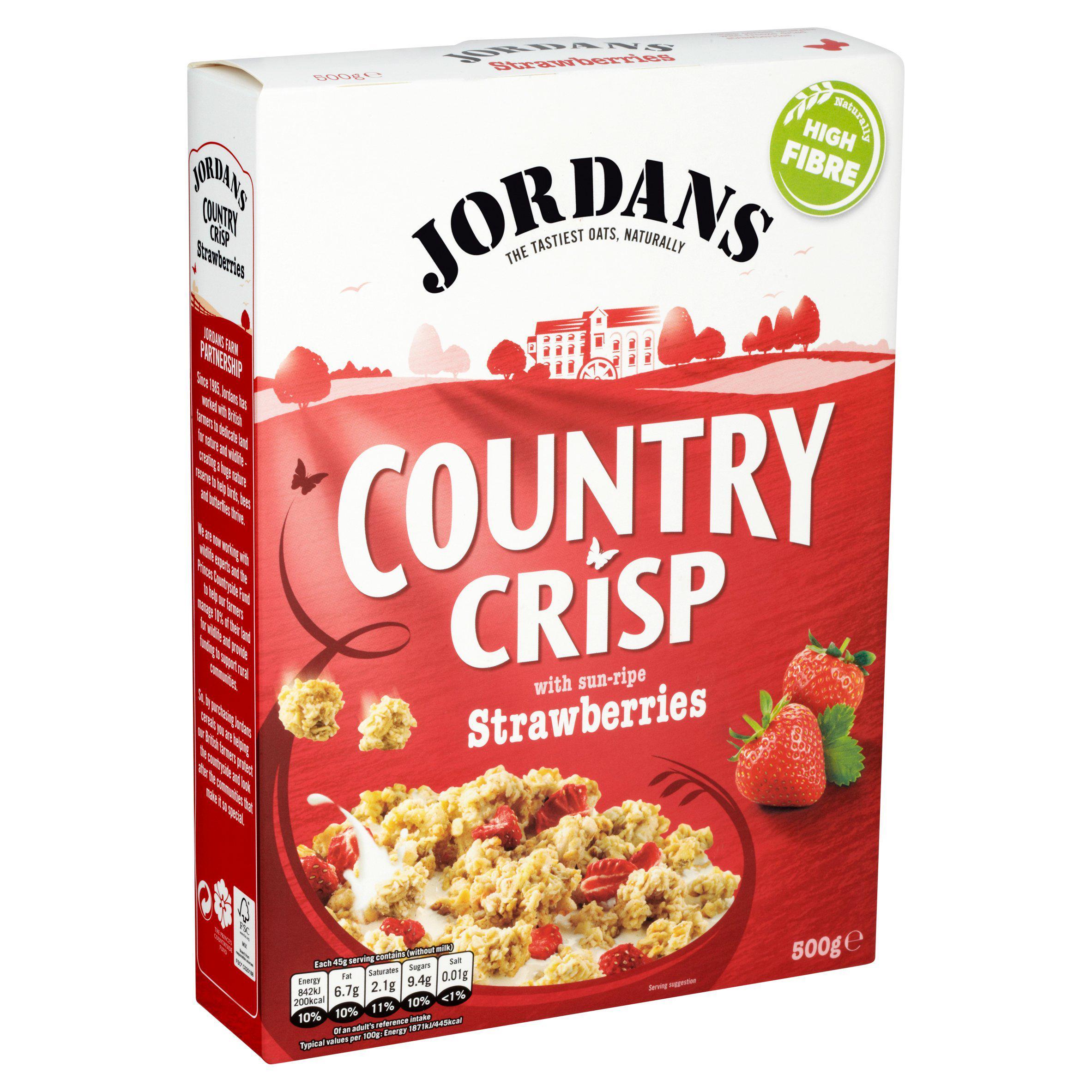 Jordans Country Crisp 500g (Strawberry / Chocolate / Raspberry / Nuts / Raisin) - £1.50 @ Sainsbury's