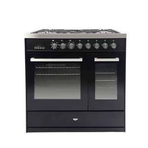 Bush BRCNB90DBLBK 90cm Dual Fuel Range Cooker - 5 Burner / Wok Support / Includes LPG Kit - £499.99 Delivered @ Argos