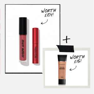 Free Gifts worth £24 on a £35 order PLUS spend £55 and get a Free Radiance Primer worth £15 too + Free Delivery @ Smashbox