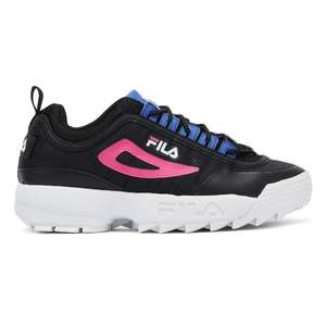 Fila Disruptor II Monomesh Womens Black Trainers £28.50 with Code + free Delivery From Tower London