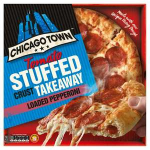 Chicago Town Takeaway Large Stuffed Pepperoni / Cheese / Sticky Sweet Cola BBQ Pizza - £2.50 @ Sainsbury's