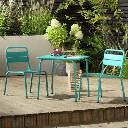 Kids 2 Seater Metal Bistro Set - Pink £33.49 / Blue £33.59 click & collect @ Argos