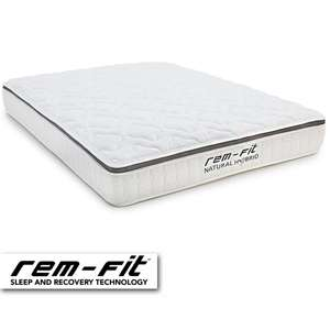 REM-Fit Natural Hybrid Mattress Sale - e.g: Single £160 / Double £235 / Super King £325 + 100 Night Trial & Free Next Day Delivery @ Remfit
