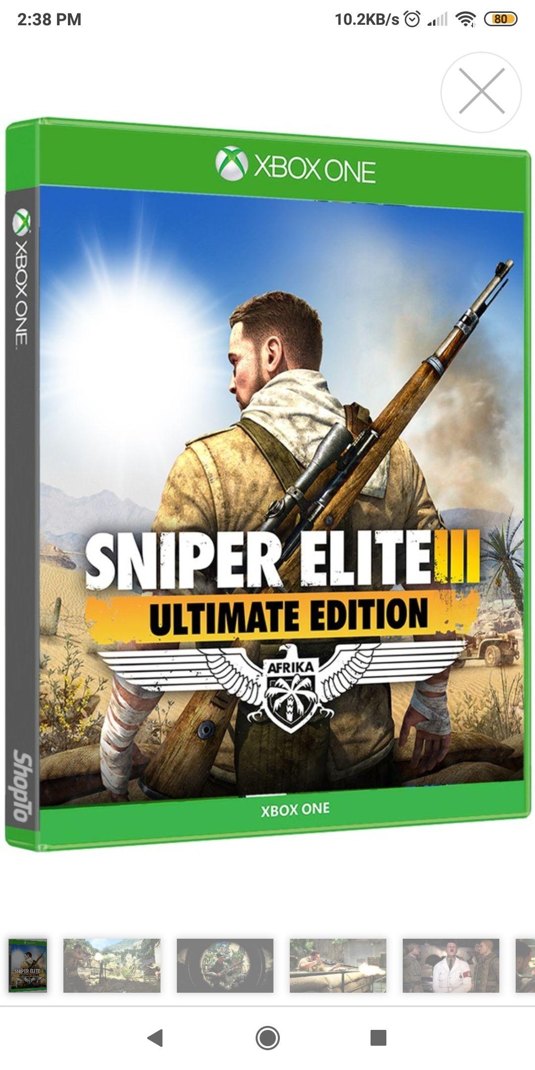 Xbox One S Sniper Elite 3 at ShopTo for £13.85