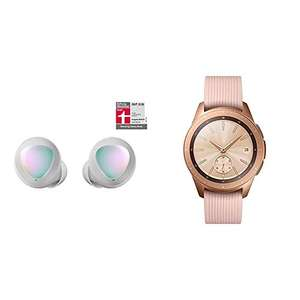 Samsung Galaxy Watch 42mm and Galaxy Buds £206.41 Silver/Rose Gold @ Amazon Germany £201.50 with fee free card