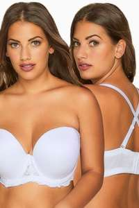 White Padded Bra With Removable Multiway Straps £3 yours clothing £1 click and collect