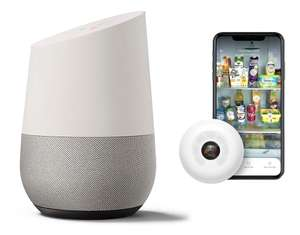 Google Home Smart Hub Hands-Free WiFi Smart Speaker White/ Chalk + Smarter FridgeCam (2020 Version) - £64.99 Delivered @ Scan