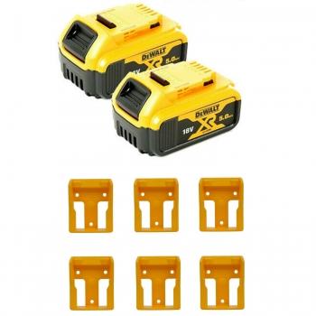 2 x Dewalt 5.0ah Batteries and 6 x Battery Holders £109.99 Delivered @ Powertoolmate