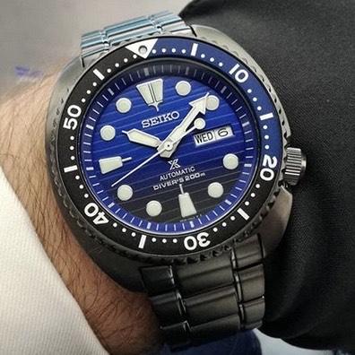Seiko Prospex Turtle Men's Black IP Bracelet Watch £255 @ Ernest Jones