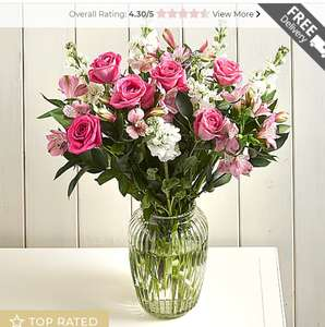 Darling Delight Letterbox Bouquet £25.46 plus Free Delivery with voucher code @ Serenata