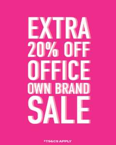 Extra 20% off Up to 50% Sale with voucher code ( Free Delivery On £45 Spend ) @ Office