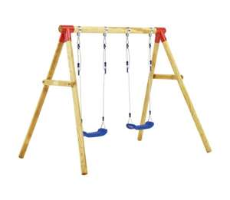 VidaXL Swing Set (Pinewood - 230x130x166 cm) £116.99