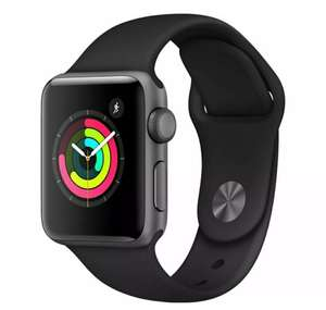 New APPLE Watch Series 3 - Space Grey & Black Sports Band 38 mm - £185.25 With Code @ Currys / Ebay