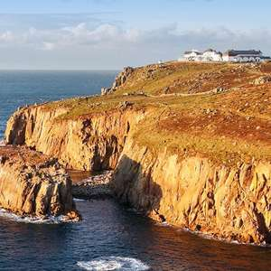 1 Night Stay at The Land's End Hotel (Cornwall) + Breakfast + Cream Tea for Two £59 (Fully Refundable) @ Travelzoo UK