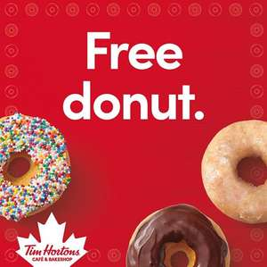 Free Tim Hortons Donut (Redeem before 11am)