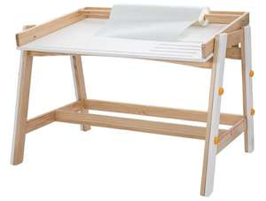 Livarno Living Kids' Height-Adjustable Wooden Table - £7.50 In store @ Lidl Manchester