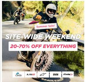 Summer sale 20% to 70% off at XL Moto - Delivery £3.95 / over £50 free