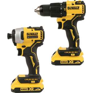 DeWalt DCK2062D2T-GB 18V XR Brushless Compact Combi Drill & Impact Driver Twin Pack 2 x 2.0Ah - £189.98 delivered @ Toolstation
