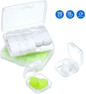Mpow waterproof mouldable silicone earplugs 20 Pairs for swimming and sleeping for £5.99 Prime (+£4.49 non Prime) @ SJH EU LTD / Amazon
