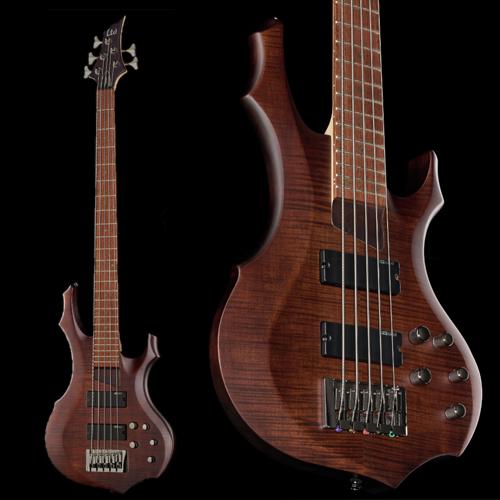 ESP LTD F-205FM 5 String Bass Guitar - Walnut Brown Satin - £319 Delivered @ Thomann