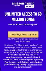 Amazon Music 90 day Free Trial