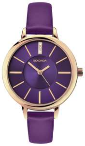 Sekonda Editions Purple and Rose Gold Plated Watch with 2 year guarantee & Presentation Box - £19.99 + Free Click & Collect @ Argos
