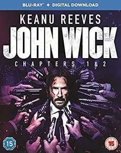 John Wick: Chapters 1 & 2 Blu-Rays (Dolby Atmos) + Digital Download £7.49 (+£2.99 Non Prime) @ Amazon