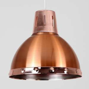 Portishead Copper Pendant Shade - £5 / £8.95 delivered @ Iconic Lights