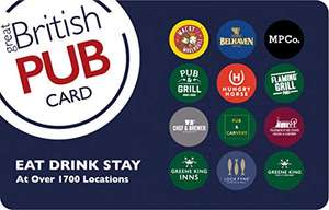 10% Off Great British Pub £20 Gift Card - £18 Delivered via Email @ Amazon