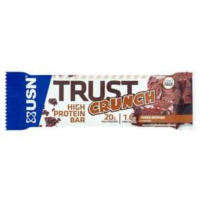 USN Trust Crunch protein bars (White Choc Cookie Dough, Fudge Brownie, Cherry Chocolate, Caramel Peanut) at Asda for £1