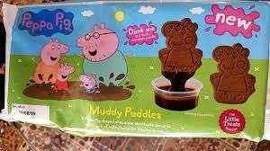 Peppa Pig Muddy Puddles Biscuits + Milk Chocolate Dipping Sauce - 99p in-store @ Home Bargains Bury, near Mill Gate