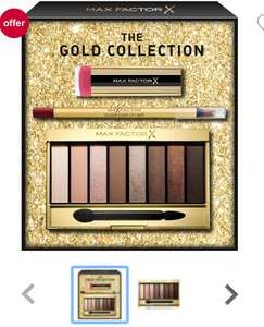 Max Factor 3 Piece Full Sized Gold Gift Set £5.95 @ Boots +£1.50 c&c