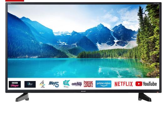 """SHARP 2T-C40BG2KE1FB 40"""" Smart Full HD LED TV £219.00 @ Currys"""
