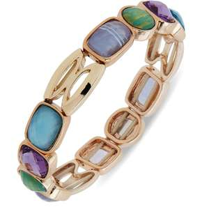 Anne Klein Gold Colour Blue and Purple Stretch Bracelet £19.99 Argos - Free Click & Collect or next day delivery £3.95