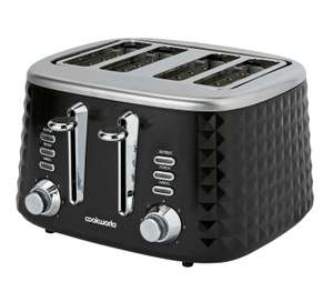 Cookworks Textured 4 Slice Toaster - Black click and collect £19.99 @ Argos