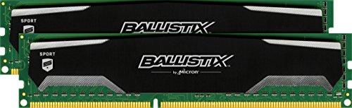 Ballistix Sport 8GB Kit (4GBx2) (DDR3, 1600 MT/s, PC3-12800, DIMM, 240-Pin) £29.56 Amazon