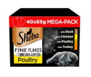 Sheba Select Slice Fine Flakes 40 x 85g £10 at Asda