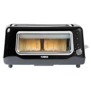 Tower T20011 two slice long slot glass toaster for £34.95 delivered @ Sonic Direct