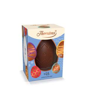 Thornton's milk chocolate Easter egg 10 for £10 + £3.95 delivery at Thorntons
