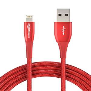 12-pack AmazonBasics nylon braided 3 metre red Lightning to USB cable £28.74 at Amazon