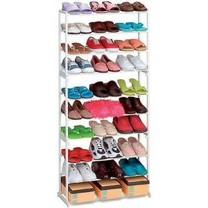 10 Tier White Shoe Rack Storage Organiser - £8.95 @ foido / eBay