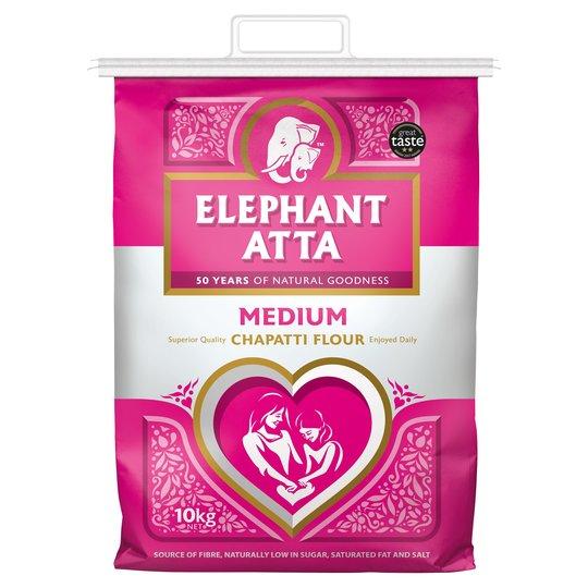 Elephant Atta Medium Chapatti Flour 10Kg - £5 @ Tesco
