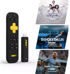 NOW TV Smart Stick with 1 month Entertainment, 1 month Sky Cinema & 1 day Sky Sports Pass for £20 @ Asda