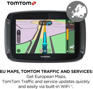 TomTom Motorcycle Sat Nav Rider 500, 4.3 Inch - Europe 49 Countries £259.99 Amazon