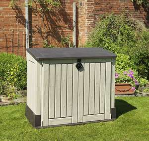 Keter Store it out midi Wood effect Plastic Garden storage box - £85 + free Click and Collect only @ B&Q