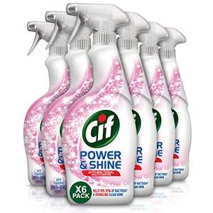Cif Power And Shine Multi-Purpose Antibacterial Spray, 4.2 L, 700ml, Pack of 6 £12 (Prime) £16.49 (NP) @ Amazon