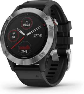 Garmin Fenix 6 Ultimate Multisport GPS Watch Silver with Black Band - £369 @ Amazon