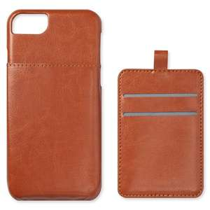 """Faux leather phone case with card holder for IPHONE 6/7/8""""- £1 instore / £3.95 delivered @ Neon Sheep"""