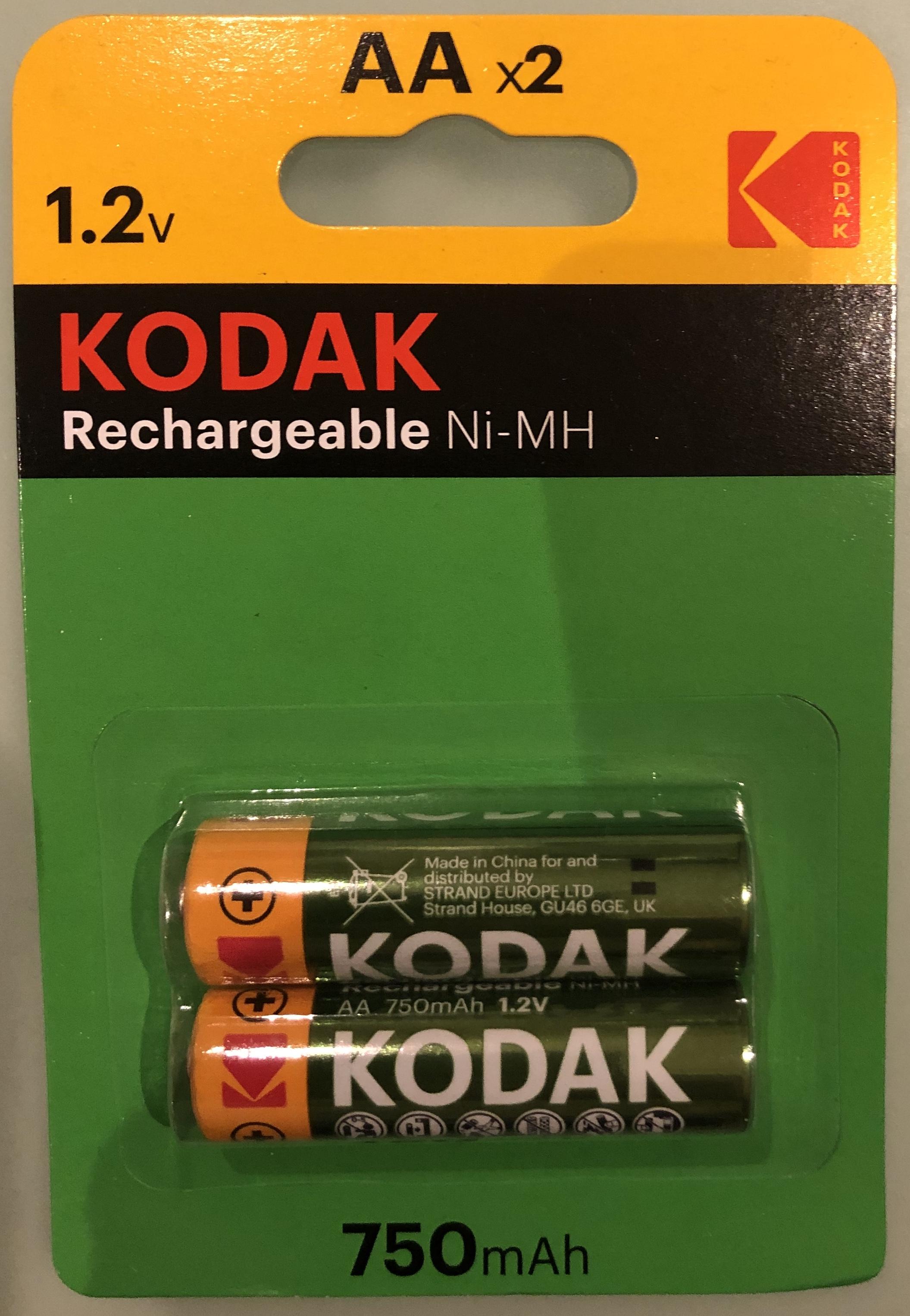 Kodak Rechargeable AA Batteries £1 @ Poundland Bracknell